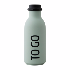 "Design Letters - ""To Go"" Water Bottle - Soft Green 0,5 l"